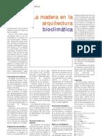 Madera en La Arquitectura Bioclimatica