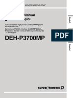 Pioneer 187294998DEH P3700MPOperationManual