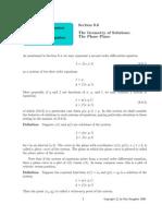 Geometrical Solution Phase Plane