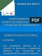1_mantenimiento a Subestaciones Electricas de Emergencia