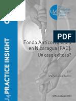 Fondo Anticorrupción en Nicaragua