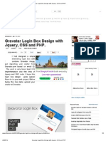 Gravatar Login Box Design With Jquery, CSS and PHP