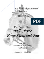 2012 Peace River Fall Fair Horse Show and Entry Form