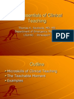 The Essentials of Clinical Teaching