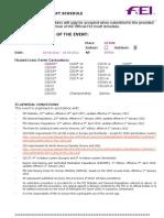 Programa CSIO Gijon 2012