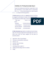 Formatting Guidelines for Writing Internship Report