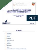 02 INEI - INDICADORES SOCIOECONÓMICOS pea