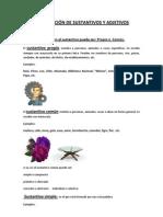 CLASIFICACIÓN DE SUSTANTIVOS Y ADJETIVOS