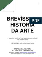 BREVÍSSIMA HISTÓRIA DA ARTE - LIVRO