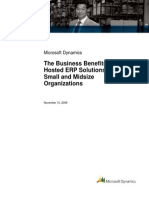 The Business Benefits of Hosted ERP