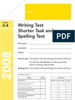 2008 Shorter Writing Test and Spelling