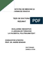 EVALUAREA IMAGISTICĂ A TOACELUI PACIENTULUI POLITRAUMATIZAT