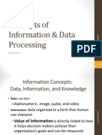 Lecture 6 - Concepts of Information & Data Processing