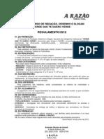 Regulamento Verde 2012