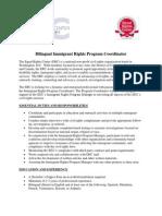 Immigrant Rights Program Coordinator Job Description