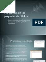 Programas en Los Paquetes de Oficina