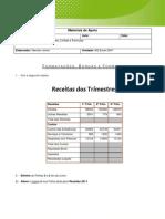 MS Excel 2007 - Exercício 7 - Receitas dos Trimestres