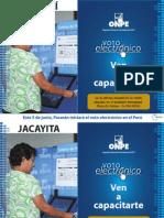 Banderola de capacitación de Voto Electrónico Presencial