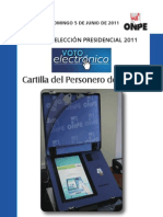 Cartilla de Personero de Voto Electrónico Presencial