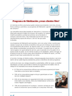 Fidelizacion de Clientes Programas Consejos