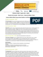 Separata Cine, Conferencias, Debate y Teatro Del Orgullo 2012