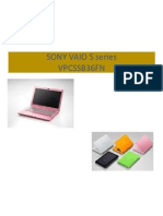 Sony Vaio s Series Ppt