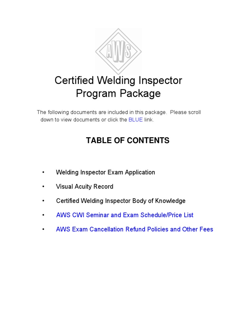 Cwi Exam Only Pkg Professional Certification Test Assessment