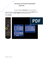 Zinwell FreeviewHD Receiver Retuning Instructions