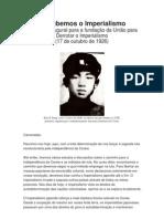 Derrubemos o Imperialismo - Kim Il Sung