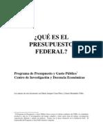 Que Es El Presupuesto Federal
