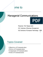 Managerial Communication Session 2. Objectives,Process & Forms of Communication