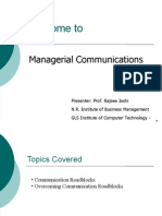 Managerial Communication Session 3 Communication Roadblocks