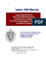 Massachusetts General Laws Chapter 30b - Manual