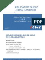 Disponibilidad Suelo Santiago Chile 2012