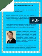 PRESENTACION DE LA CONSTITUCIÓN