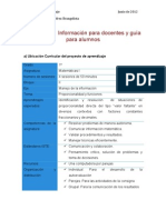 Información para docentes y guía para el alumno HDT
