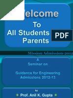 FE 2012PdmissionProcess