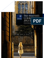 Oxford Pre-Masters Courses Brochure 2012-2013