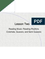 Lesson 2 Reading Rhythms