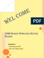 GSM Based Wireless Notice Board