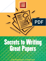 Secrets to Writing Great Papers (Study Smart Series)