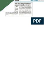 """""""Califano sia a capo della Privacy"""" - Il Resto del Carlino dell'8 giugno 2012"""