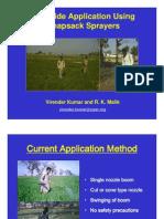 Herbicide Application Using Knapsack-Virender Kumar and R. K. Malik