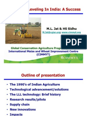 Laser Land Leveling in India - A Success - M L  Jat & HS