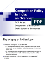 Competition Policy in India1