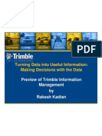 Preview of Trimble Information Management - Rakesh Kadian