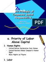 Basic Principle of Corporate Social Responsibility
