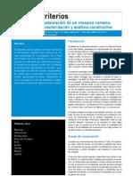 Flores, V. Et Al. Rest. Mosaico Romano. Caracterizacion y Analisis Constructivo. PH 2004