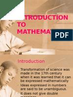 2 Intro to Mathematics