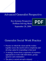 Advanced Generalist Perspective